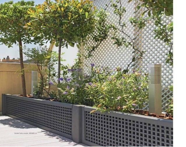 Celos as y vallas para terrazas nueva colecci n de - Vallas de plastico para jardin ...