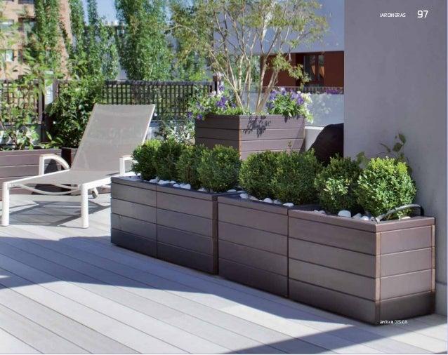 Jardineras para terrazas nueva colecci n de p rgolas e - Jardineras de exterior ...