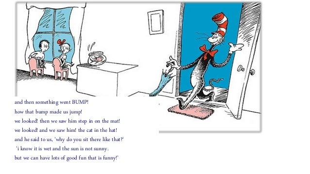 Dr Seuss 'The Cat in the Hat'=the introduction