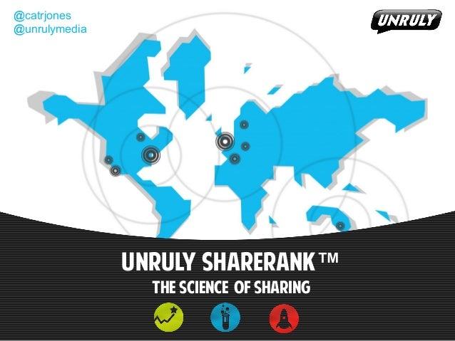 @catrjones@unrulymediaUnruly SHARERANk™The science of Sharing@catrjones@unrulymedia