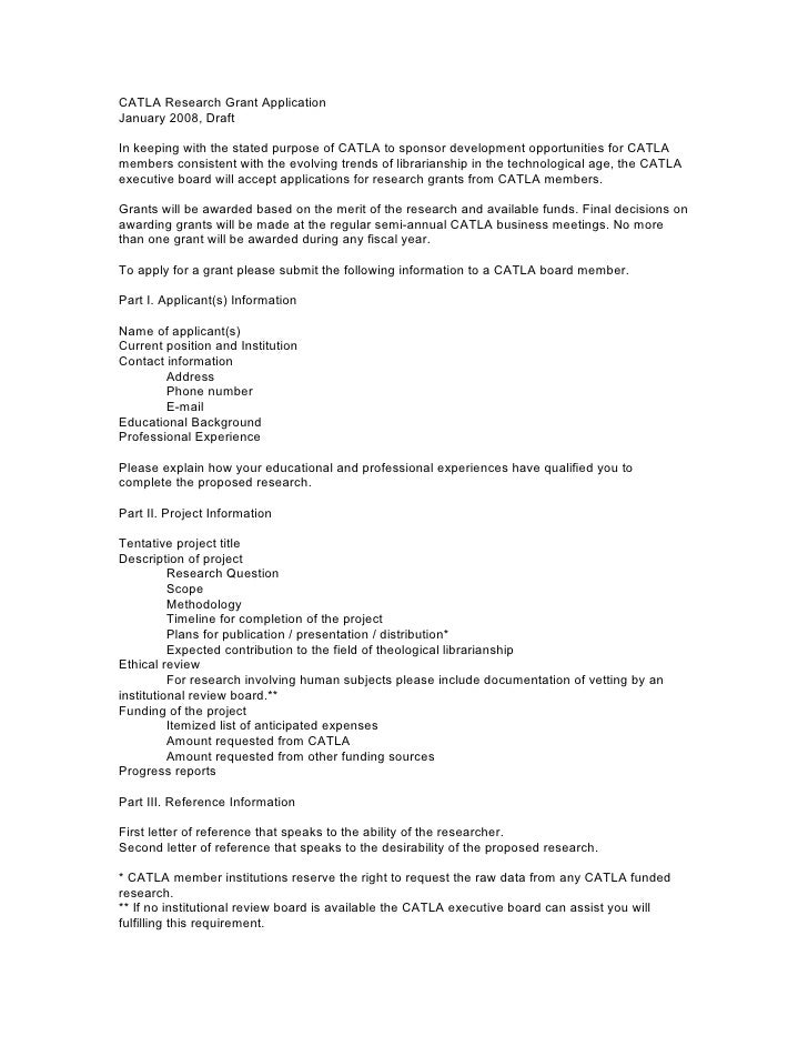CATLA Research Grant ApplicationJanuary 2008, DraftIn keeping with the stated purpose of CATLA to sponsor development oppo...