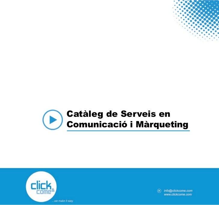 Catàleg de Serveis enComunicació i Màrqueting