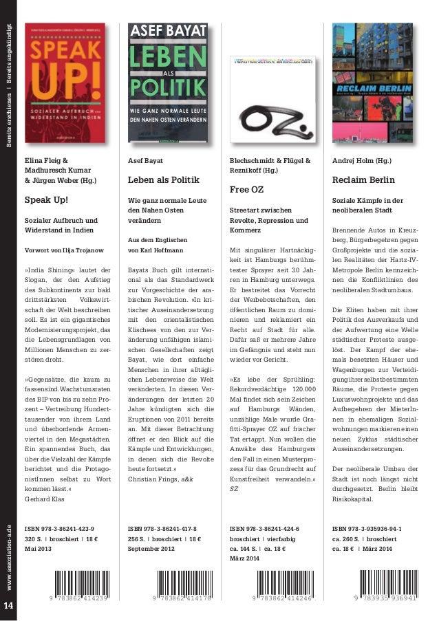Bereits erschienen | Bereits angekündigt  ASEF BAYAT  LEBEN  FREE OZ!herausgegebenvonandreasblechschmidtkpflügeljorinderez...