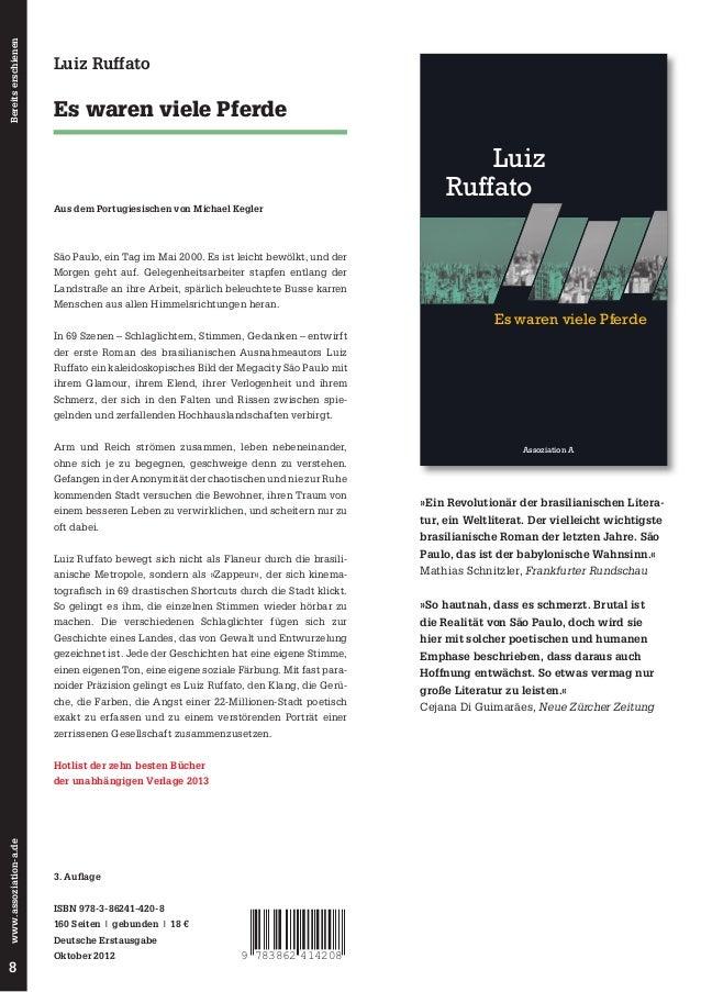In 69 Shortcuts entwirft Luiz Ruffato ein kaleidoskopisches Abbild der Megacity  Es waren viele Pferde  São Paulo. Mit fas...