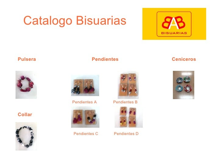 Catalogo Bisuarias Pulsera Collar Pendientes Pendientes A Pendientes D Pendientes C Pendientes B Ceniceros