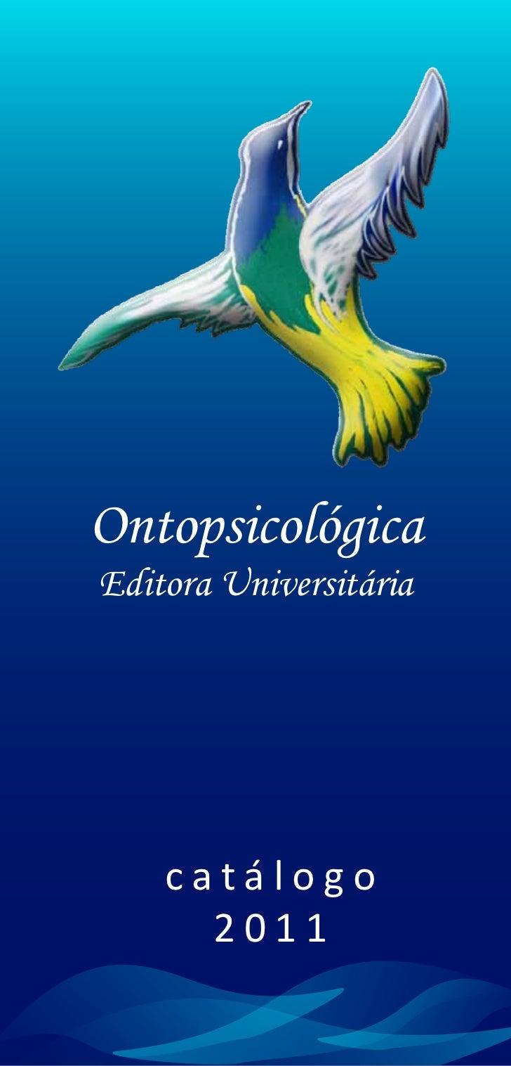 OntopsicológicaEditora Universitária    catálogo      2011