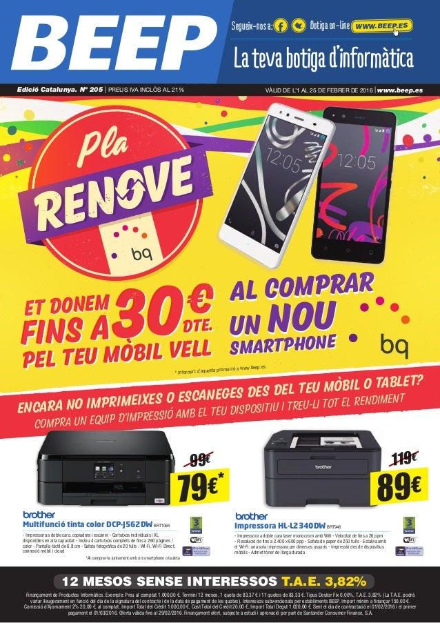 al comprar smartphone un NOU al comprar smartphone un nou Pla Multifunció tinta color DCP-J562DWBRT1064 - Impressora a dob...