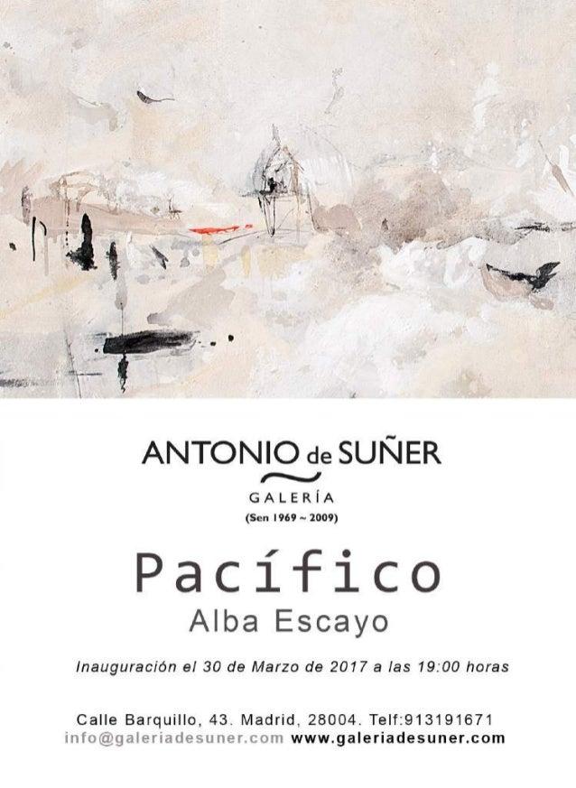 Catálogo de la exposición de Alba Escayo: Pacífico