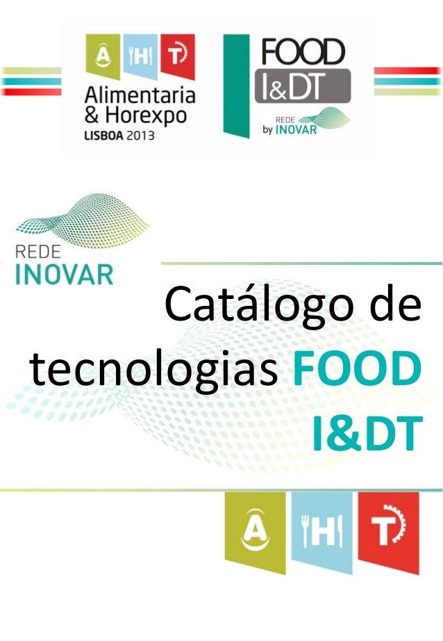 Catálogo detecnologias FOOD             I&DT