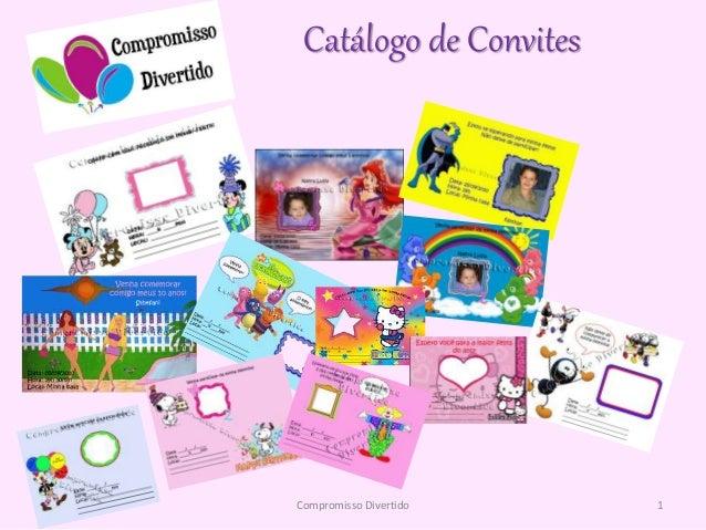 Catálogo de Convites 1Compromisso Divertido