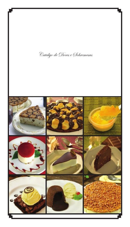Catálgo de Doces e Sobremesas