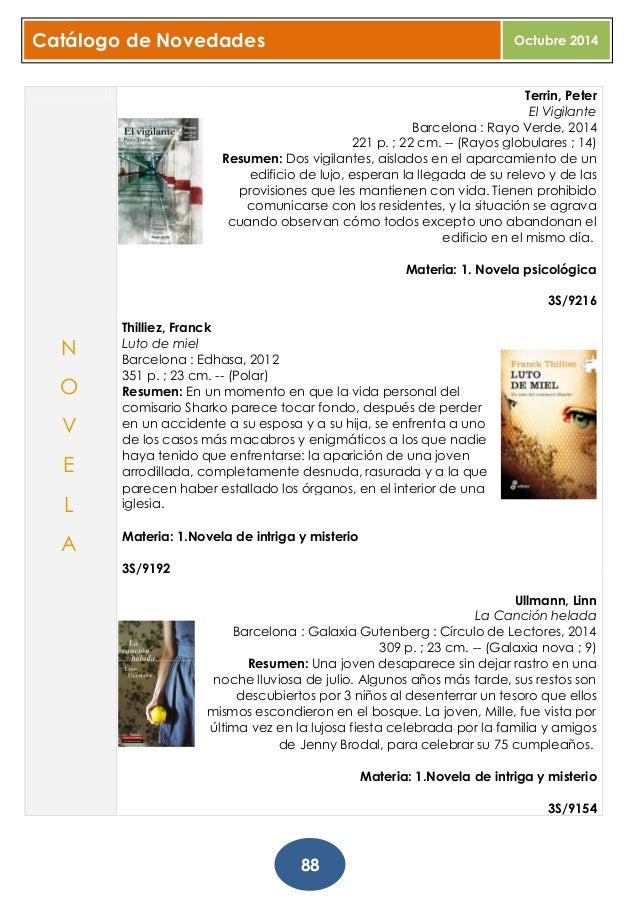 Boletín de novedades. Libros, DVDs, música. Octubre 2014.
