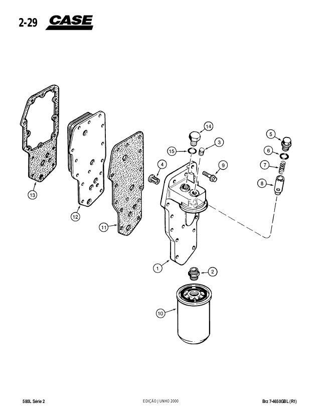 Catálogo de peças retro escavadeira case 580 l serie2 (r1) brz