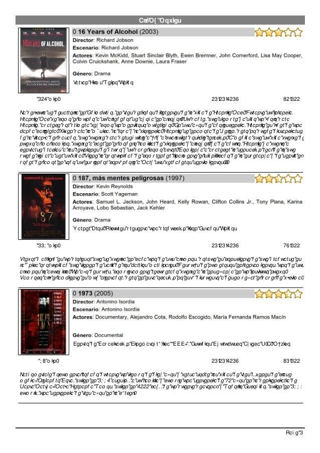 All My Movies La película se desarrolla en Edimburgo, en tres periodos diferentes de la vida de Frankie Mac. Durante su in...