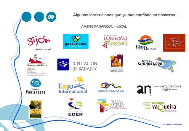 © DINAMIZA Asesores ÁMBITO PROVINCIAL – LOCAL Algunas instituciones que ya han confiado en nosotros …