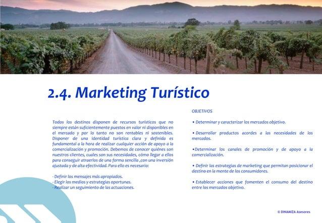 © DINAMIZA Asesores 2.4. Marketing Turístico Todos los destinos disponen de recursos turísticos que no siempre están sufic...