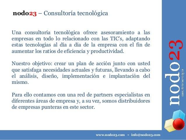 nodo23 Consultoría Tecnológica y Marketing Online - Catálogo de servicios Slide 3