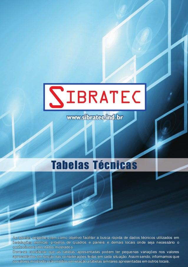 www.sibratec.ind.br  Tabelas  Técnicas  As tabelas seguintes tem como objetivo facilitar a busca rápida de dados técnicos ...
