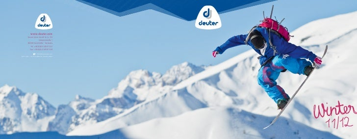www.deuter.com        Deuter Sport GmbH & Co. KG                     Siemensstraße 1        86368 Gersthofen · Germany    ...