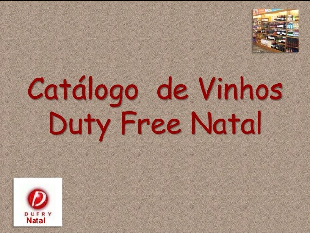 Catálogo de Vinhos Duty Free Natal Natal