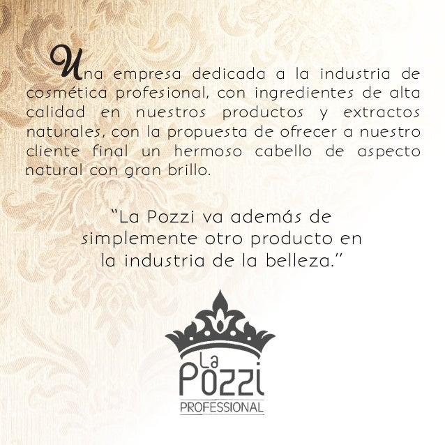 na empresa dedicada a la industria de cosmética profesional, con ingredientes de alta calidad en nuestros productos y extr...