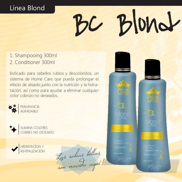 Línea Blond Indicado para cabellos rubios y descoloridos, un sistema de Home Care que pueda prolongar el efecto de alisado...