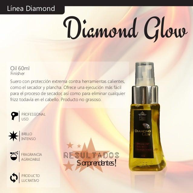 Línea Diamond Suero con protección extrema contra herramientas calientes, como el secador y plancha. Ofrece una ejecución ...