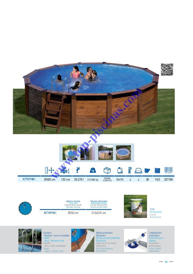 Catalogo gre 2015 top piscinas for Aspirateur piscine manta