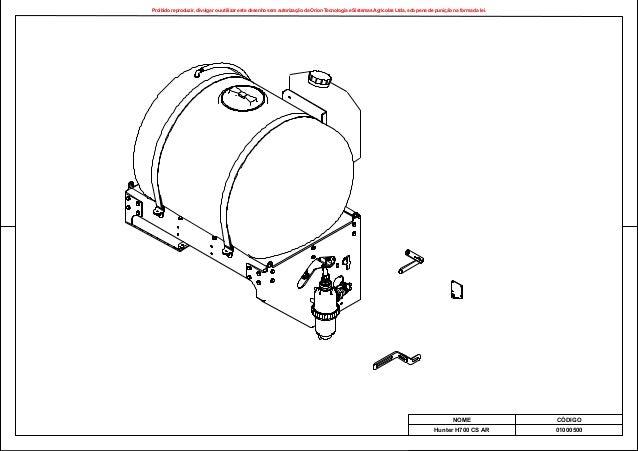 Proibido reproduzir, divulgar ou utilizar este desenho sem autoriza o da Orion Tecnologia e Sistemas Agr colas Ltda, sob p...