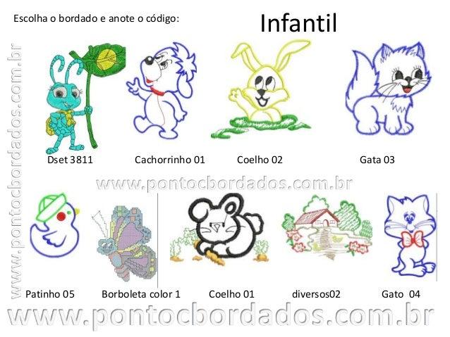 Catálogo infantil - Ponto C Bordados Slide 2