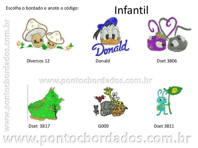Catálogo infantil - Ponto C Bordados Slide 3