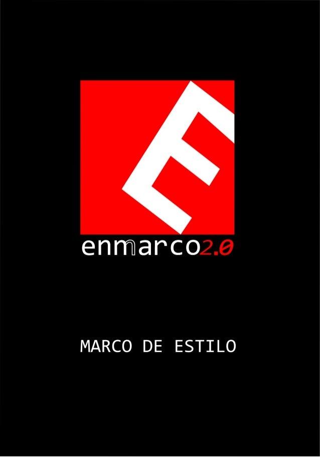 Catálogo marco estilo Enmarco2.0