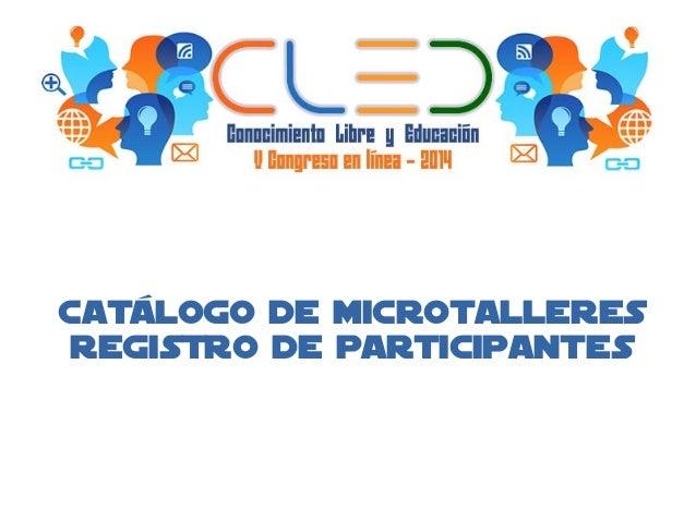 Cat logo de microtalleres cled 2014 for Saneamientos pereda catalogo