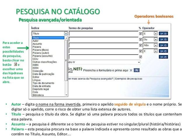 970e411d52c Tutorial para utilização do Catálogo online da BE D. Pedro IV