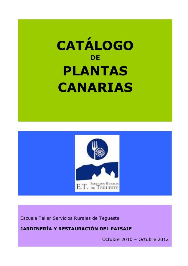 Catálogo de Plantas Canarias