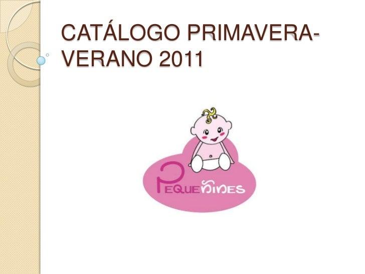 Catálogo primavera-verano 2011<br />