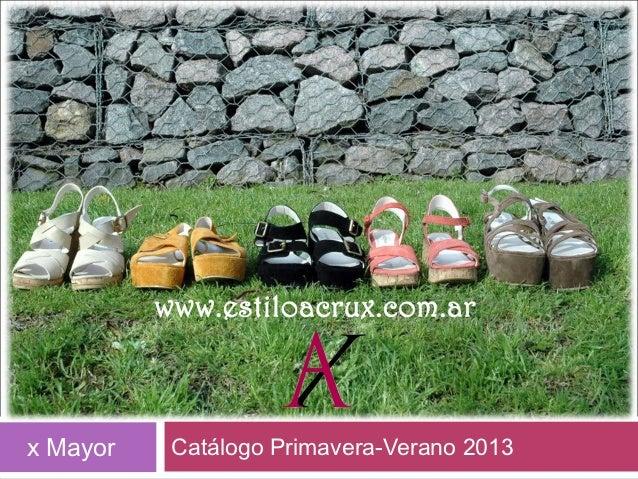 x Mayor   Catálogo Primavera-Verano 2013