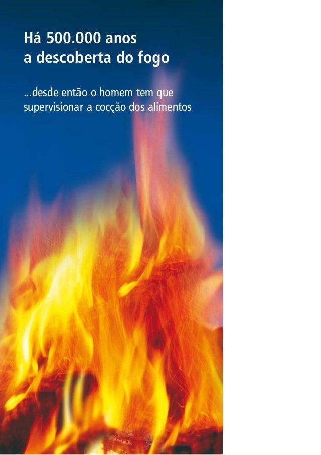 Há 500.000 anos a descoberta do fogo ...desde então o homem tem que supervisionar a cocção dos alimentos
