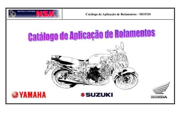 Catálogo de Aplicação de Rolamentos - MOTOS