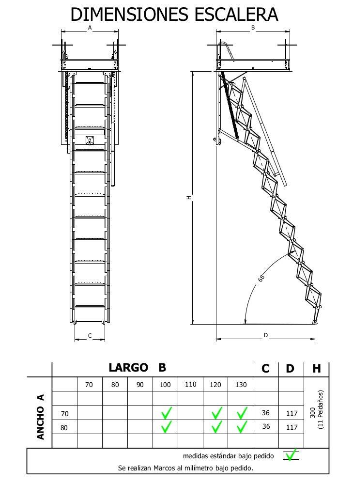 Catálogo Escaleras Escamoteables Flexa