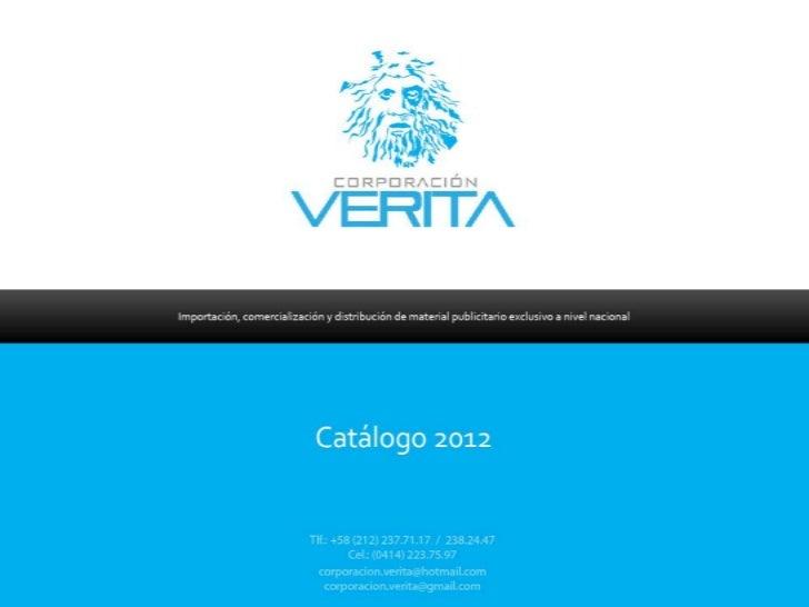 Corporación Verita Catálogo 2012 POP