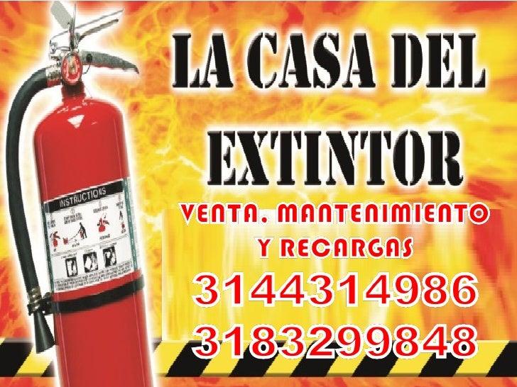 La casa del extintor portafolio de servicios - Extintor para casa ...