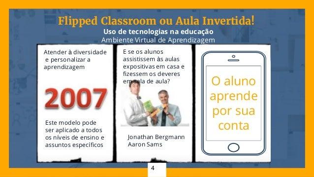 Flipped Classroom ou Aula Invertida! Uso de tecnologias na educação Ambiente Virtual de Aprendizagem 4 O aluno aprende por...