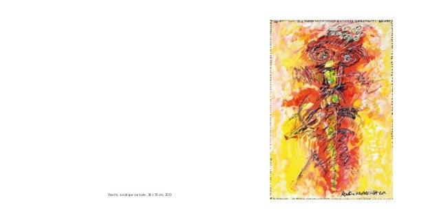 Fourmi, acrylique sur toile, 38 x 55 cm, 2012