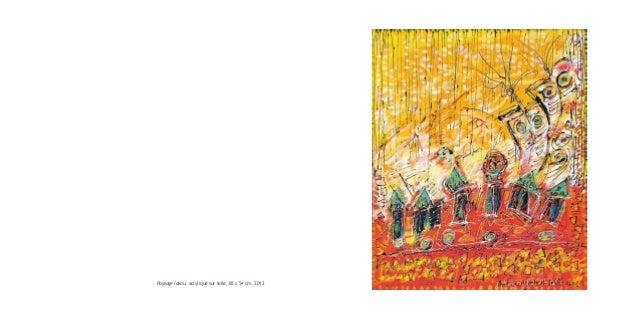 Paysage lakou, acrylique sur toile, 65 x 54 cm, 2012