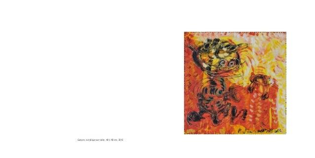 Garçon, acrylique sur toile, 40 x 40 cm, 2012