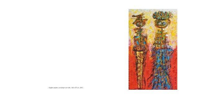 Couple paysan, acrylique sur toile, 168 x 97 cm, 2012