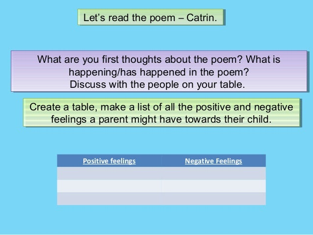 """comparing poems """"cousin kate"""" and """"catrin"""" How to compare poems in gcse english lit watch most people compare 4 poems- what i was told to do prior my english lit exam was to compare 4 poems but."""