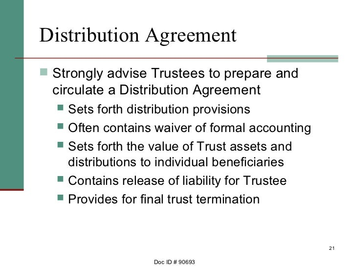 Ca Trust Admin Procedures