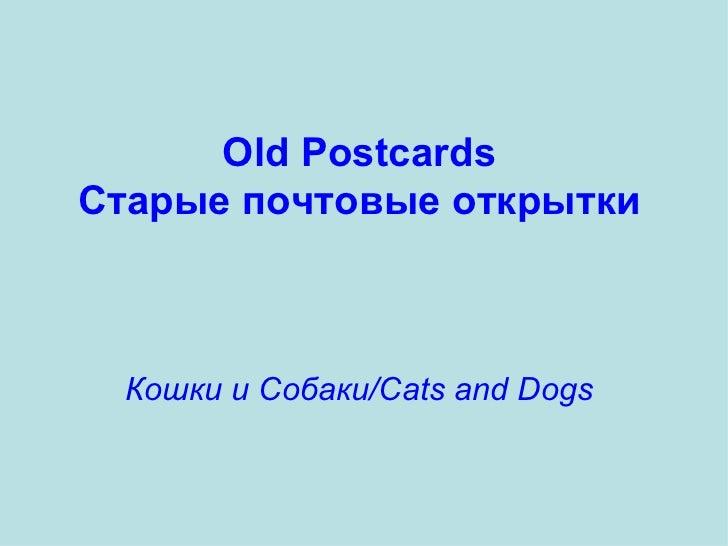 Old Postcards Старые почтовые открытки Кошки и Собаки/Cats and Dogs